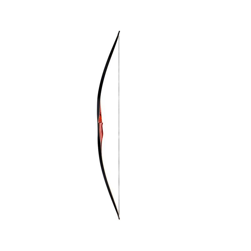 Langbogen Wolf 68Z mit schwarzen Wurfarmen roter Griff