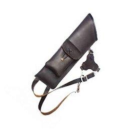 3 Punkt Kückenköcher schwarzes Glattleder mit Tasche gepolstert leise Silentos-bsb