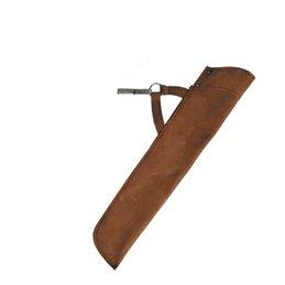 Köcher Pasaih 44,5 cm Wildleder oder Glattleder Seitenköcher Leder RH LH