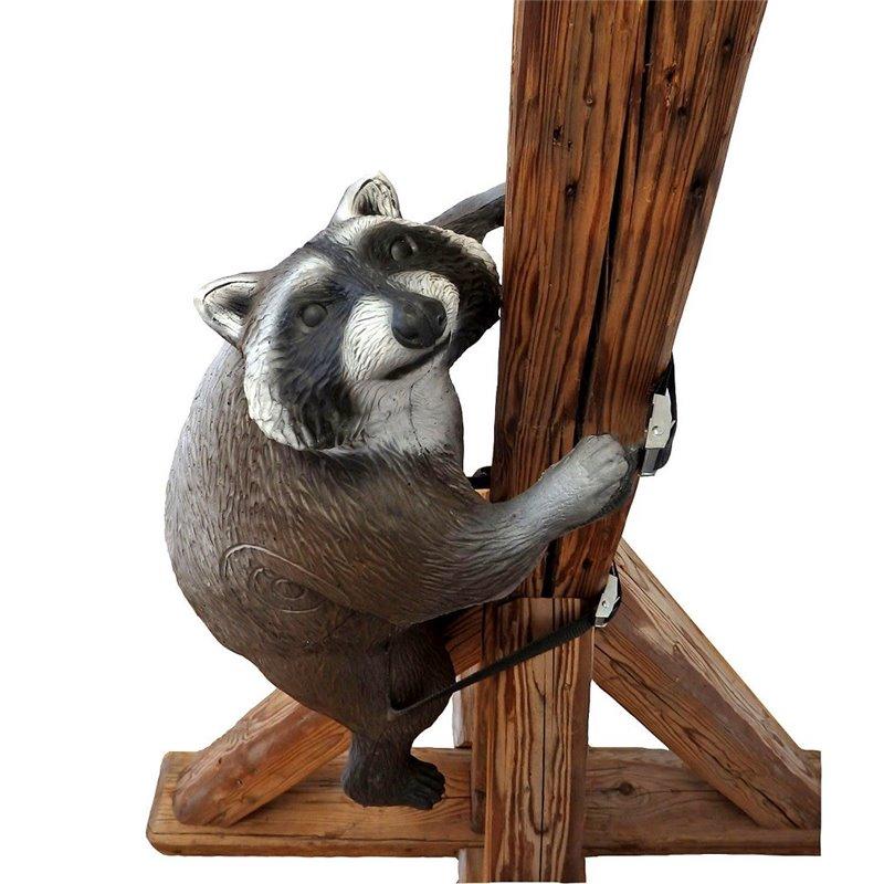 Leitold 3D Tier Waschbär kletternd mit Gurt