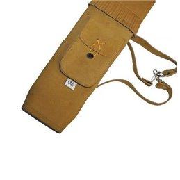 Köcher 3 Punkt Rückenköcher mit Tasche Wildleder 45cm