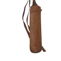 Köcher Quatila 3 Punkt Rückenköcher Leder