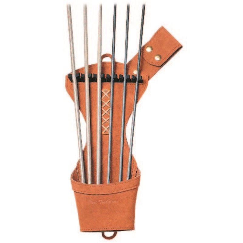 Jagdköcher Seitenköcher Leder mit Pfeilhalterung Gürtelklip und Beilschlaufe