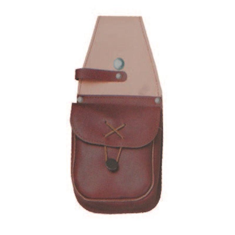 Taschenlöcher mit Zubehörtasche Handgefertigt 27cm