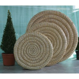 110 x 12 cm runde Traditionelle Strohscheibe Deluxe