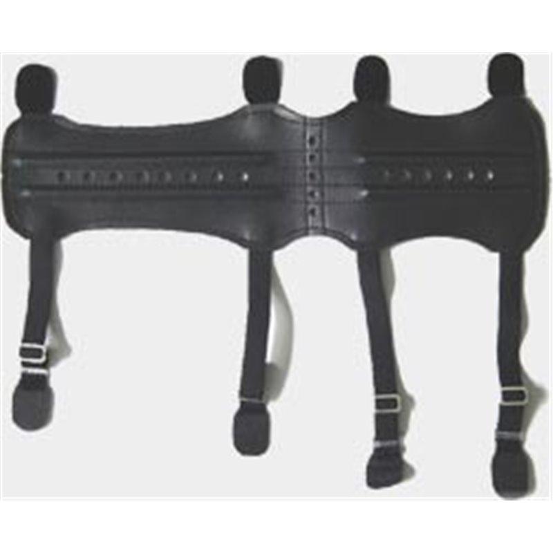 Armschutz lang für Ober und Unter Arm Kunstleder mit Verstrebung