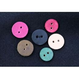 Lederknöpfe in 2 Größen Handgedertigt aus 3-4mm Fett oder Dick Leder
