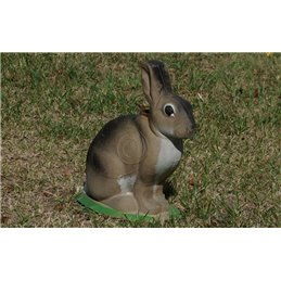 3D Tier Naturfoam Kaninchen hockend