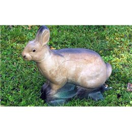 3D Tier Naturfoam Kaninchen sitzend