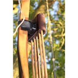Bogenköcher Tyr Design Anbauköcher Leder Handarbeit aus deutschland