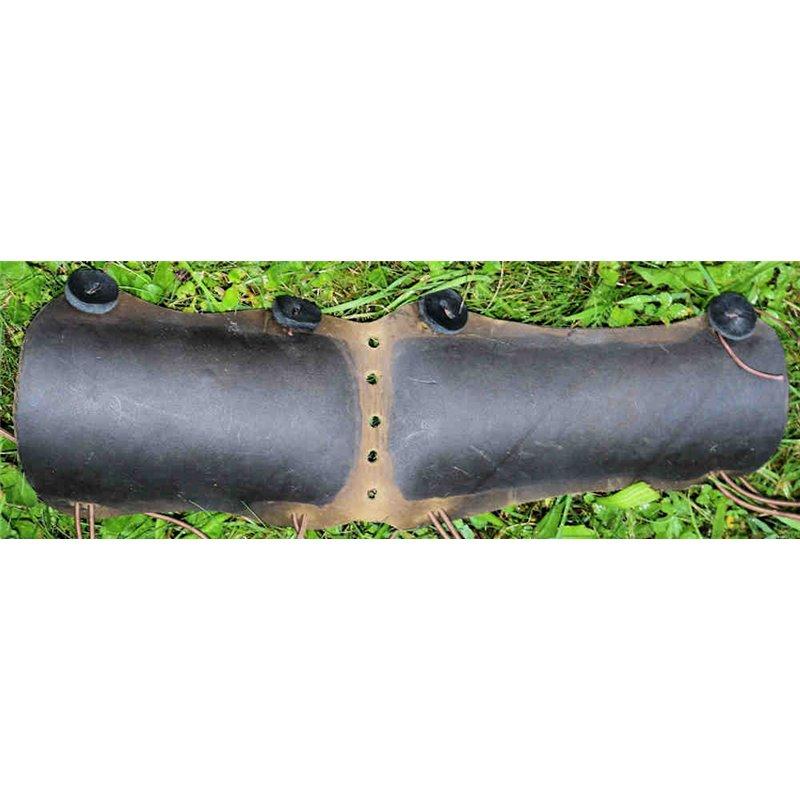 Armschutz lang gehärtet breit 4mm Vollleder Ober und Unterarmschutz für kräftige oder länge Arme