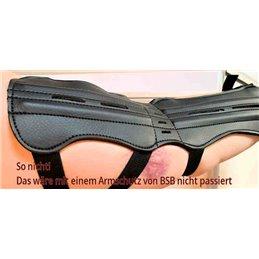 Armschutz lang gehärtet 4mm Vollleder für Ober und Unterarmschutz schmal