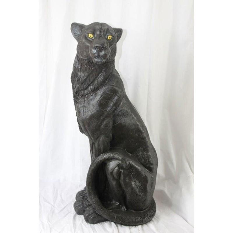 3D Tier Franzbogen Panther schwarz Premiumschaum