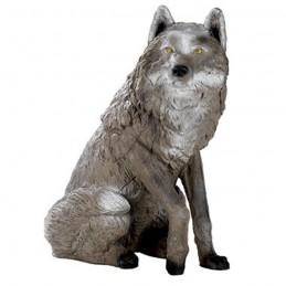 3D Tier Franzbogen sitzender Wolf Premiumschaum