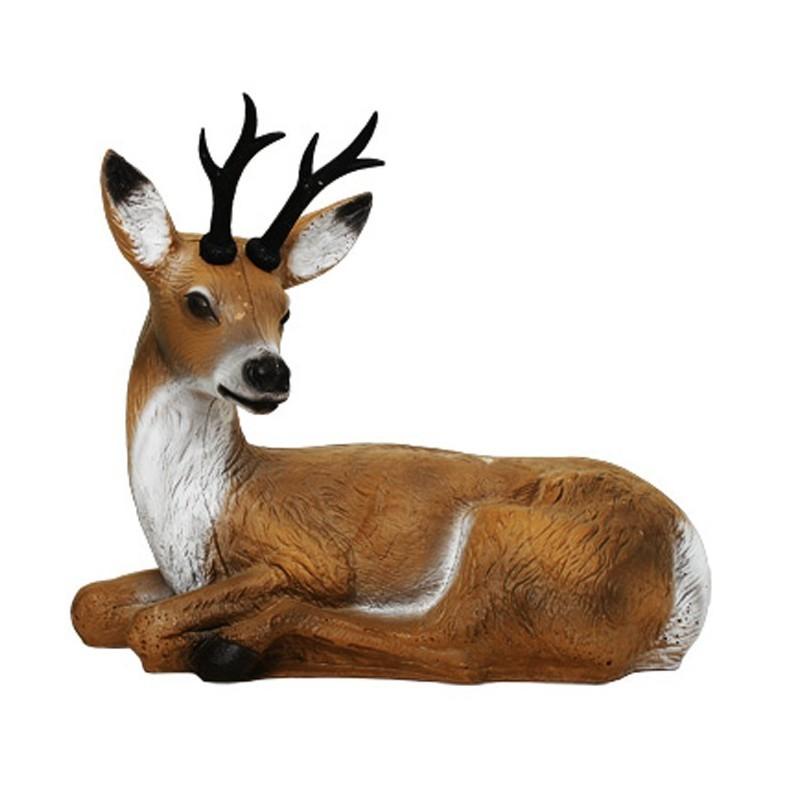 3D Tier Franzbogen Rehbock liegend Premiumschaum