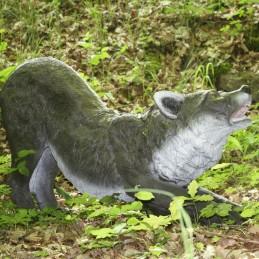 3D Tier Franzbogen Wolf kniend Premiumschaum
