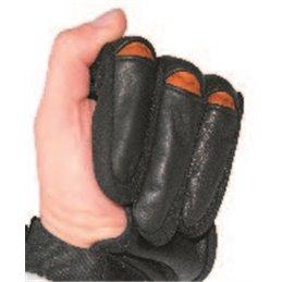 Schiess Handschuh Komfort schwarz rot Leder Softshell