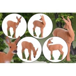 IBB 3D Tier Rehgruppe mit zurückschauend Bock