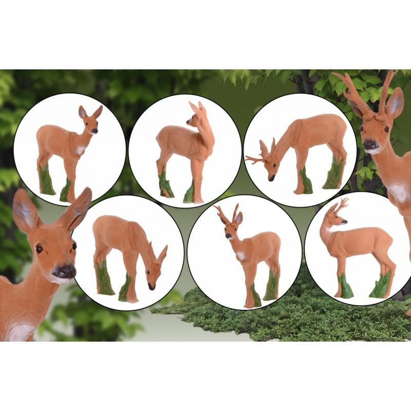 IBB 3D Tier Rehgruppe, groß 3 Geißen & 3 Böcke