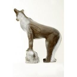 Leitold 3D Tier Wolf auf Stein
