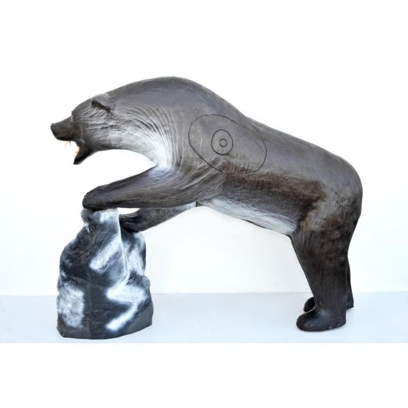 Leitold 3D Tier Grizzlybär mit Beute Lachs