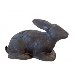 Leitold 3D Tier Hase liegend - black edition