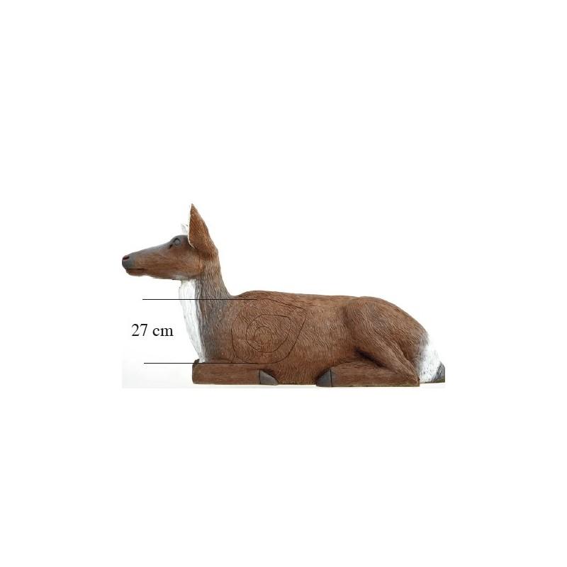 Leitold 3D Tier Hirschkuh liegend