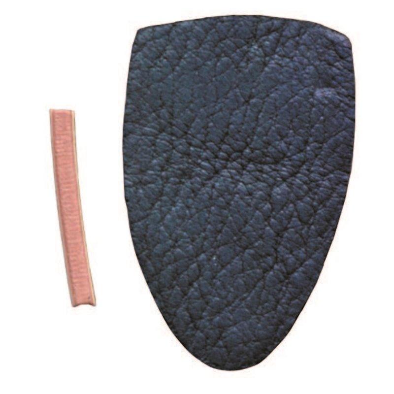 Lederrest Pfeilauflage Leder extra für den Shelf traditional mit Erhöhung