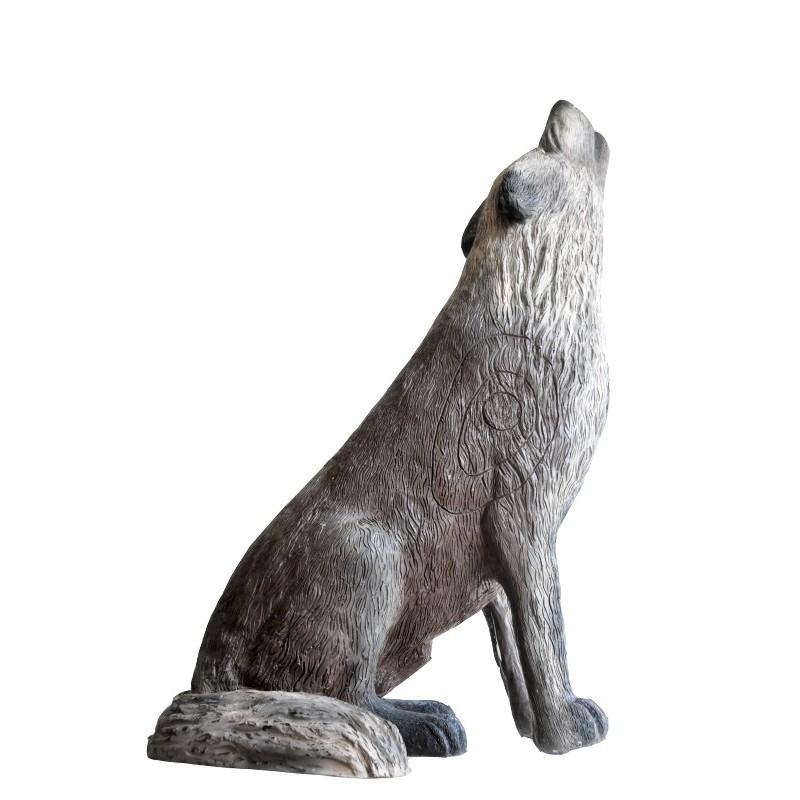 Leitold 3D Tier Timberwolf sitzend heulend