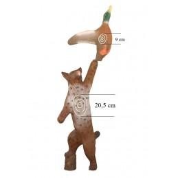 Leitold 3D Tier Luchs mit Ente (2 Ziele)