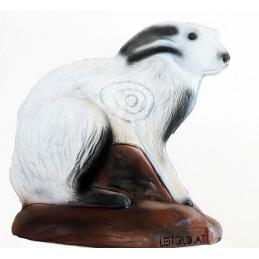 Leitold 3D Tier Schneehase sitzend