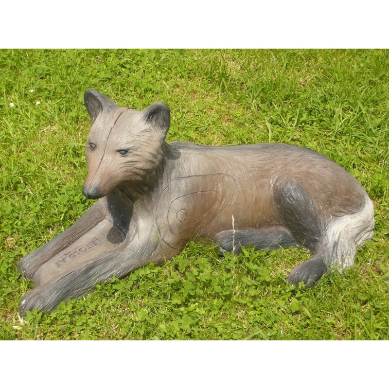 Leitold 3D Tier Wolf liegend