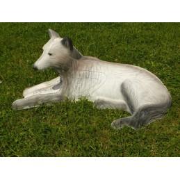 Leitold 3D Tier Weißer Wolf liegend