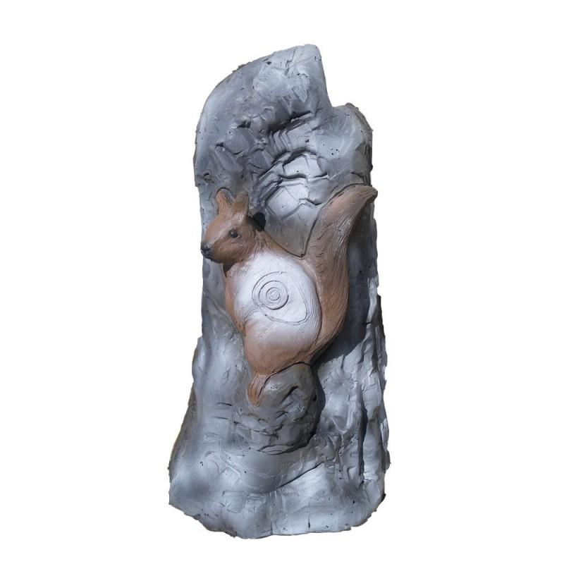 Leitold 3D Ziel Stein mit Eichhörnchen und Marder