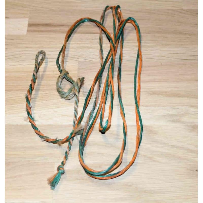 Bogenbauer Sehne Flämisch Spleiss B55 Dacron mit 1 Oehrchen zufällige Farben